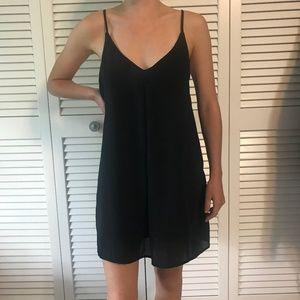 Black Strappy Shift Dress from Tobi